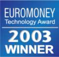 Euromoney award for Best Online Trading Platform for private Investors 2003