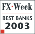 FX Week — Saxo Bank in top 3 in Best Bank for e-Trading category